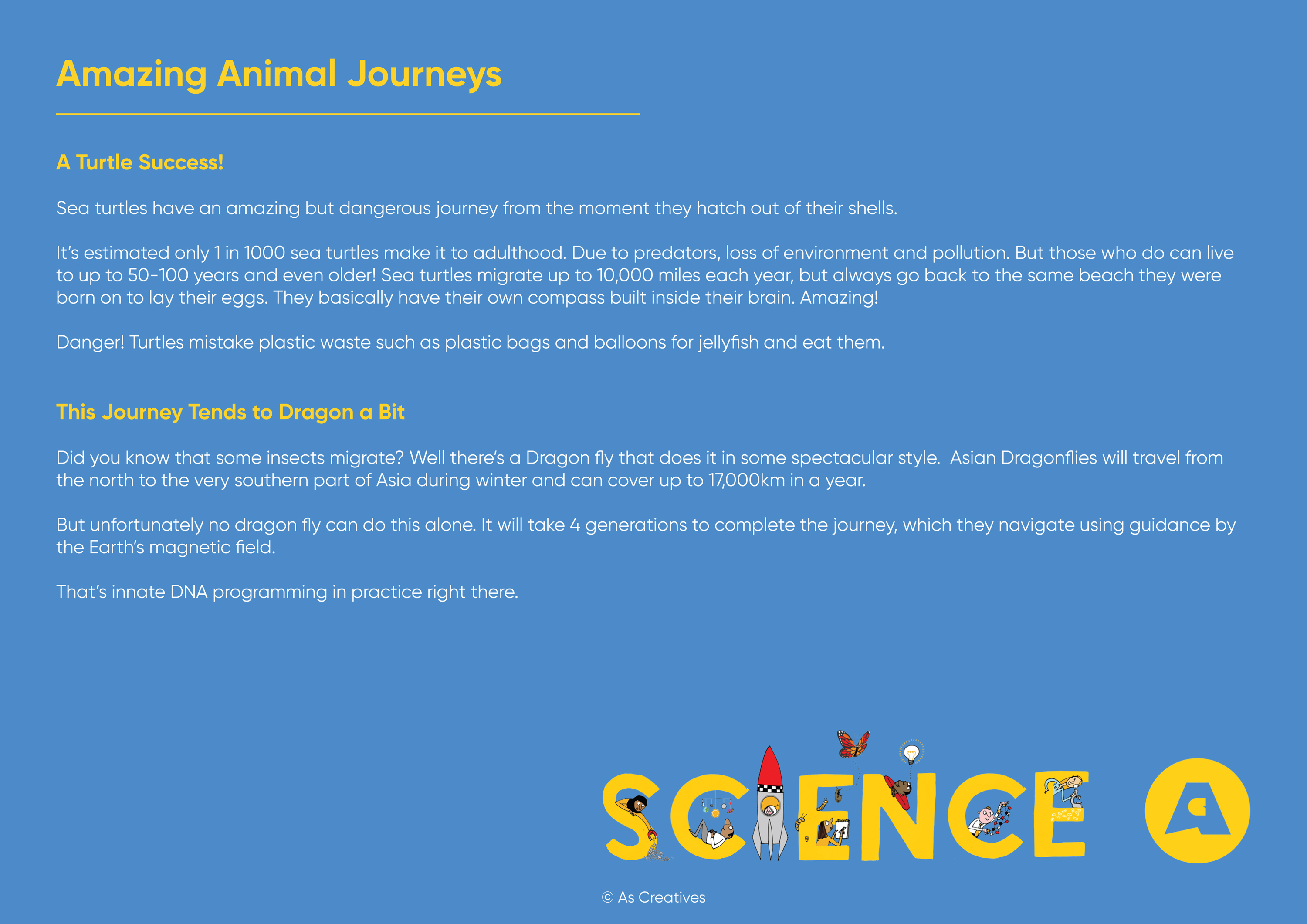 Teaching Resource: Amazing Animal Journeys British Science Week