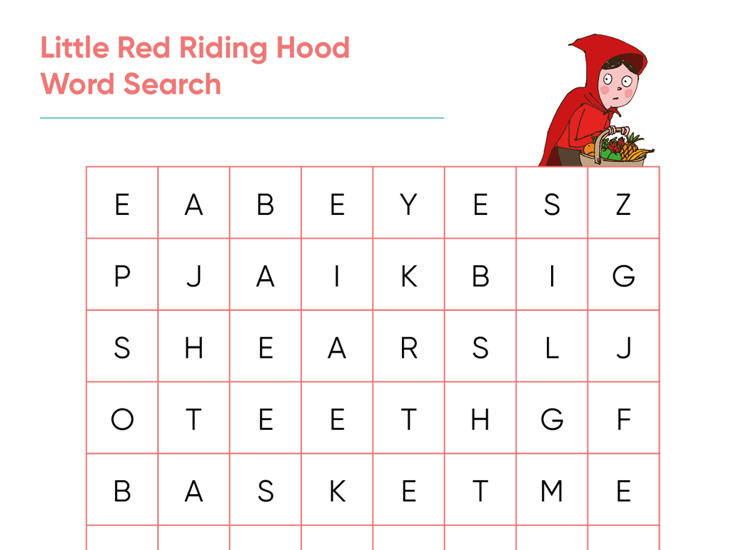 Teaching Resource: Little Red Riding Hood Word Search