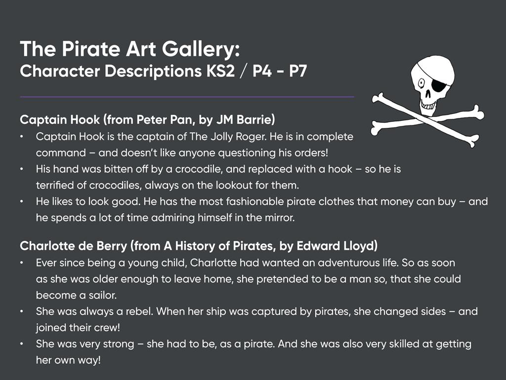 Teaching Resource: The Pirate Art Gallery