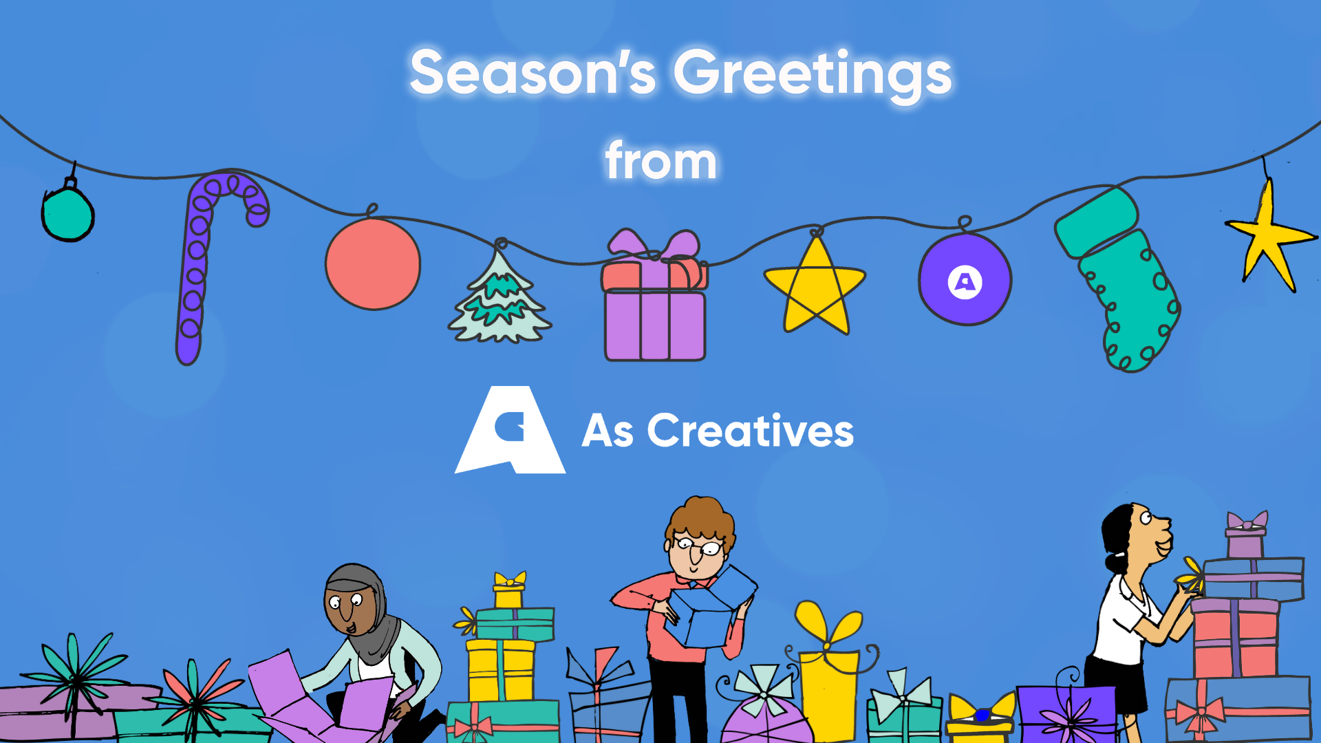 Season's Greetings for Christmas 2020 from As Creatives