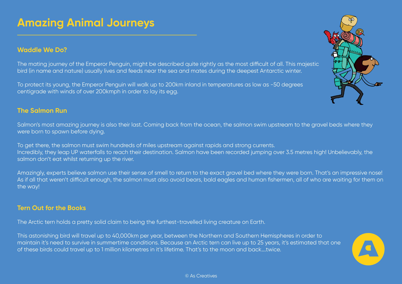 Teaching Resource: Amazing Animal Journeys