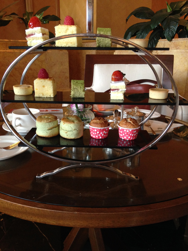 Afternoon tea in The Sphere (although also eaten with the fingers), was an altogether different affair again, the dainty cakes and scones harking back to an earlier, colonial era