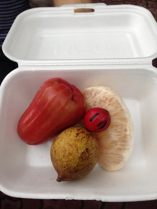 Rose apple and pomeleo fruit