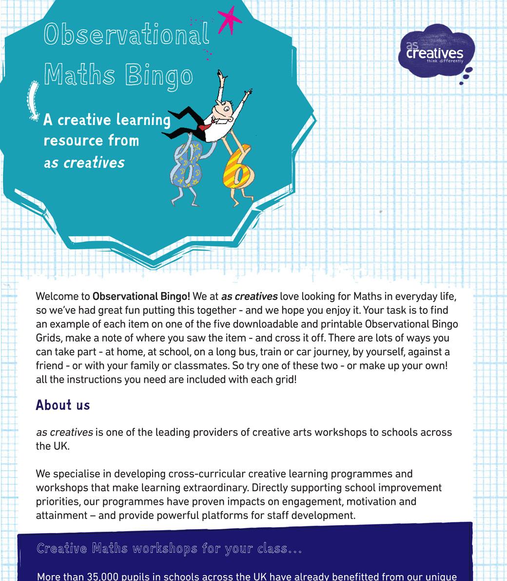 Teaching Resource: Observational Maths Bingo