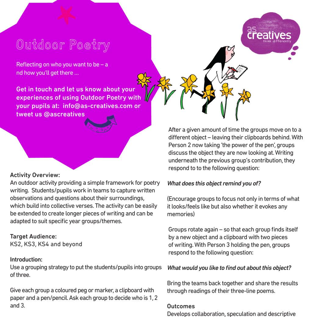 Classroom Resource: Outdoor Poetry Activity