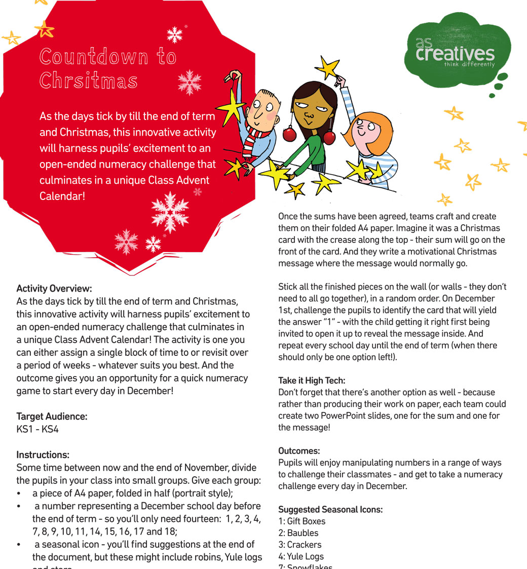 Teaching Resource: Countdown to Christmas (Numeracy)