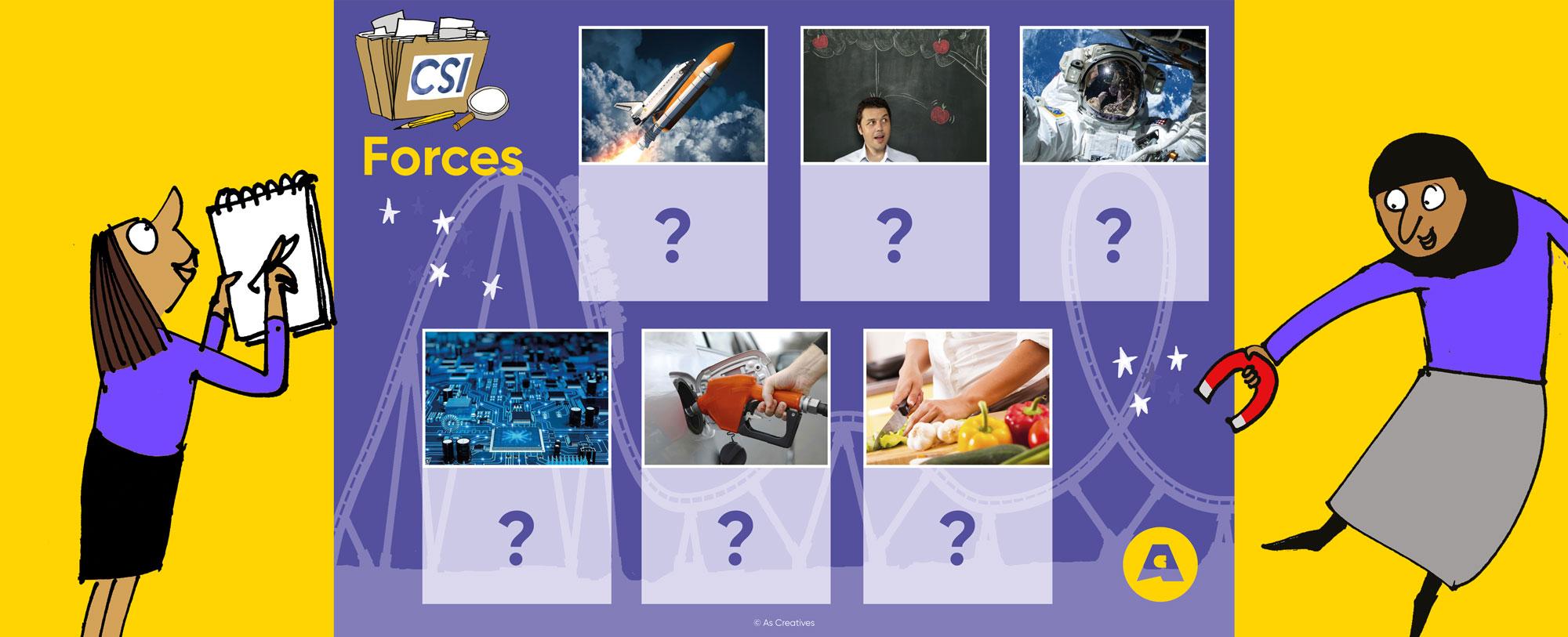 New! Science Workshops for KS1: CSI: Forces
